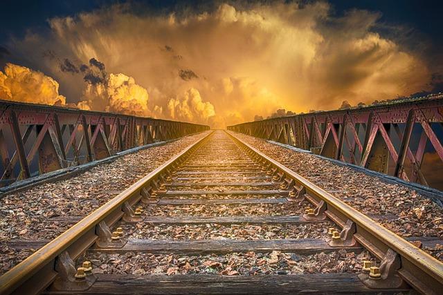 Landscape, Vias, Railway, Clouds, Sky