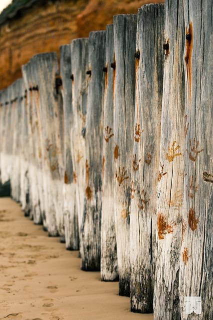 Breakwater, Poles, Beach, Wood, Anglesea, Victoria