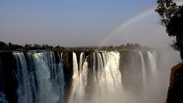 Victoria Case, Waterfall, Rainbow, Zimbabwe, Africa