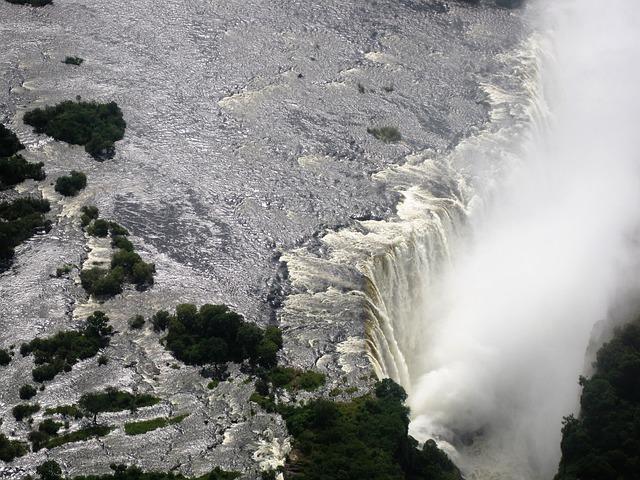 Victoria Falls, Zambia, Water, Waterfall, Africa