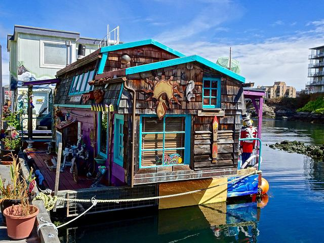 Houseboat, Victoria, House, Water, Canal, Building