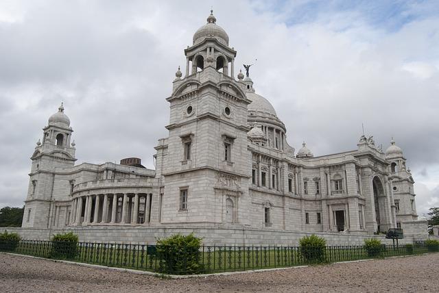 Victoria, Memorial, Palace, Museum, Calcutta, White