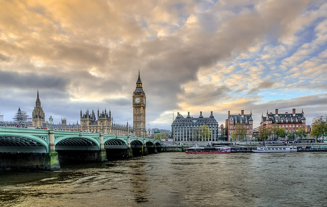 London, Victoria, Big Ben, Victoria Bridge, England, Uk