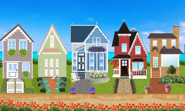 Houses, Victorian, Facade, Flowers, Victorian Houses