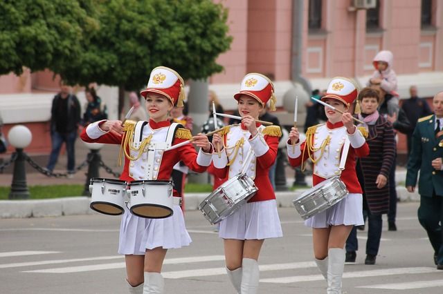 Bryansk, Victory Day, May 9, Parade, Street, People