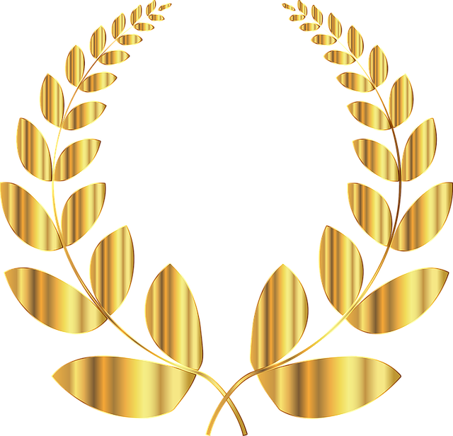 Laurel, Wreath, Conquest, Triumph, Victory, Win, Golden