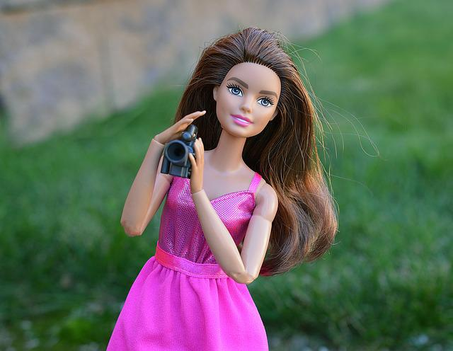 Barbie, Doll, Camera, Video Camera, Film, Filming, Toy