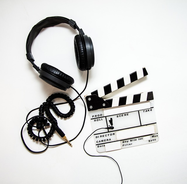 Headphones, Clapper, Clapperboard, Film, Movie, Video