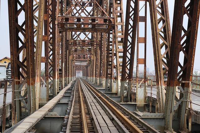 Long, Bien, Bridge, Old Bridge, Ha Noi, Vietnam