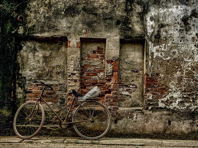 Bike, Wall, Phu Xuyen, Hanoi, Vietnam, Old, Decay