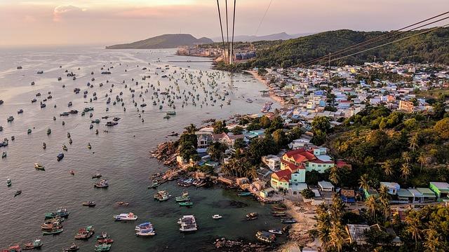 Phu Quoc, Vietnam, Cable Car, Sea, Boats, Port, Marine