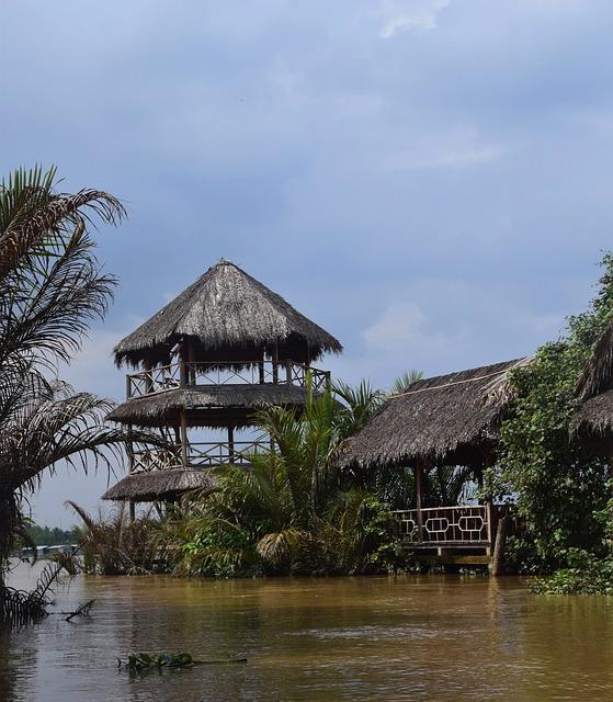 Vietnam, Mekong River, Hut, Water, Travel, Tree