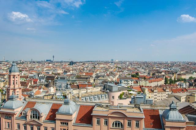 Panorama, Vienna, Austria, City, View, Building