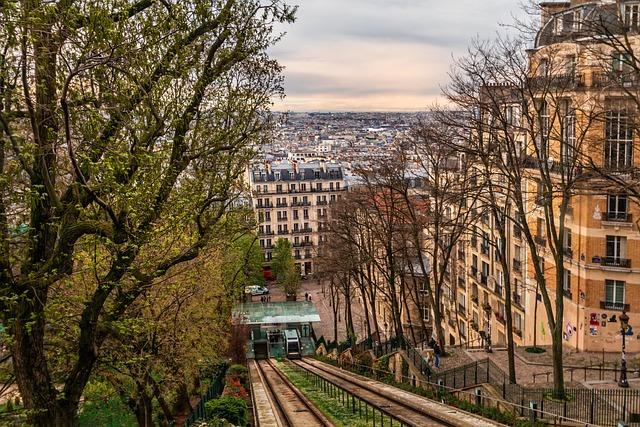 Paris, Montmartre, France, View, Perspective