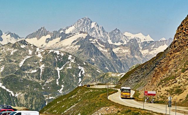 Switzerland, View From The Furka Pass, Finsteraarhorn