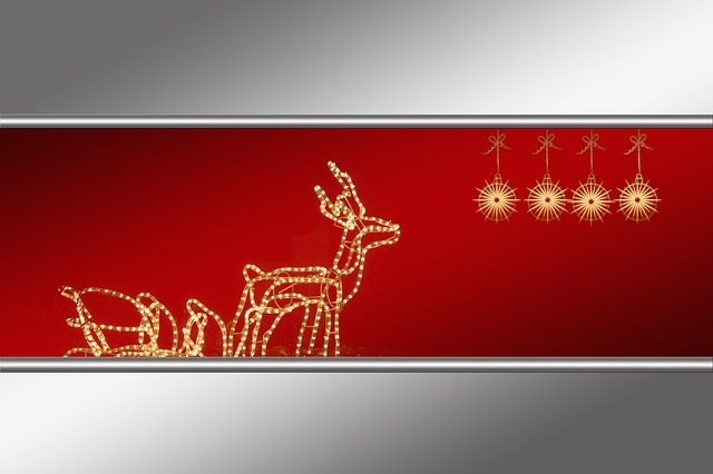 Reindeer, View, Digital, Red, White, Snow, Silhouette