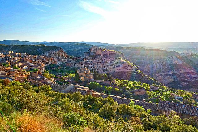Alquezar, View, Historic, Buildings, Scenic, Landscape