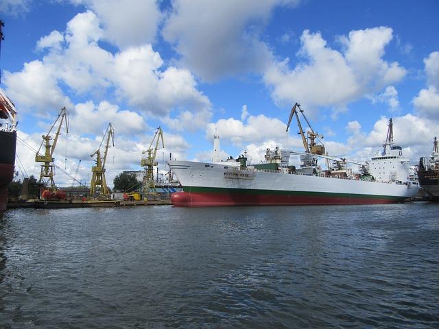 Gdansk, Channel, View, Shipyards
