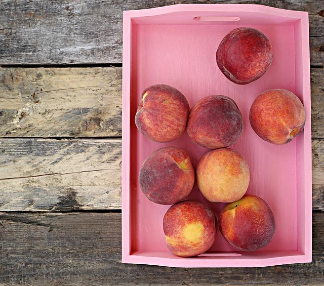 Peach, Nectarine, View Swerhun, Wood, Food, Fruit