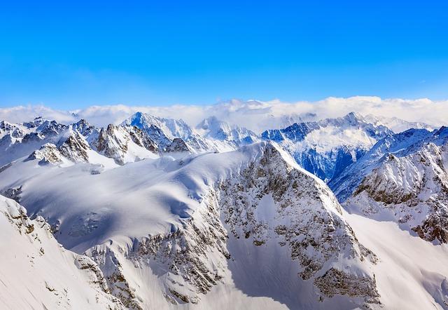 Alps, Alpine, View, Mt, Titlis, Switzerland