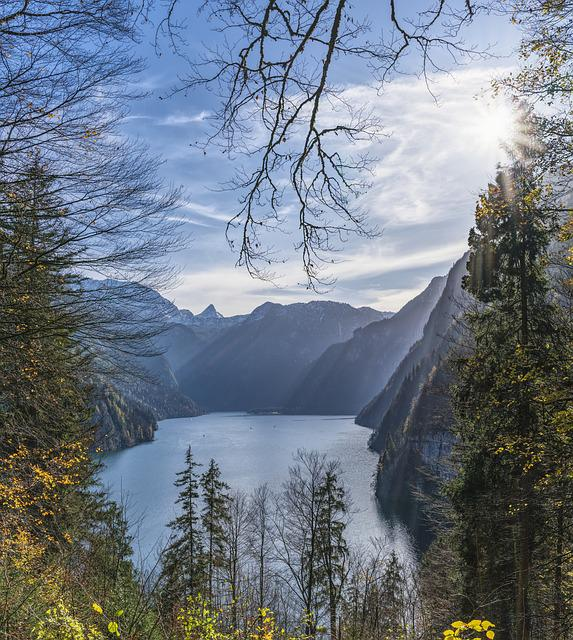 Königssee, View, Lake, Water, Bavaria, Trees, Mountains