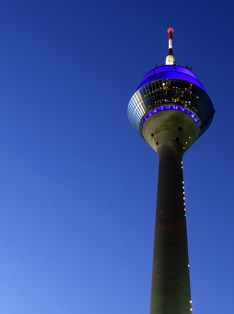 Rhine Tower, Tv Tower, Transmission Tower, View
