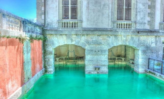 Vizcaya, Pool, Miami, Florida, Old, Travel, View