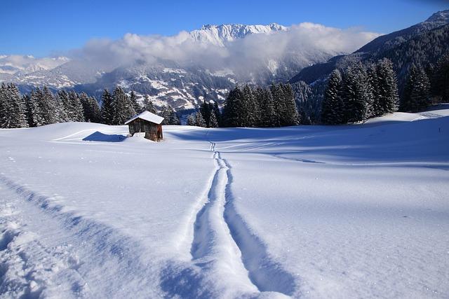 Winter, Golm, Vorarlberg, Montafon, Mountains, View