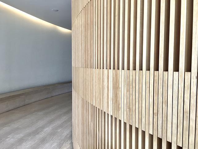 Lines, Wood, Architecture, Perspective, View, Wall