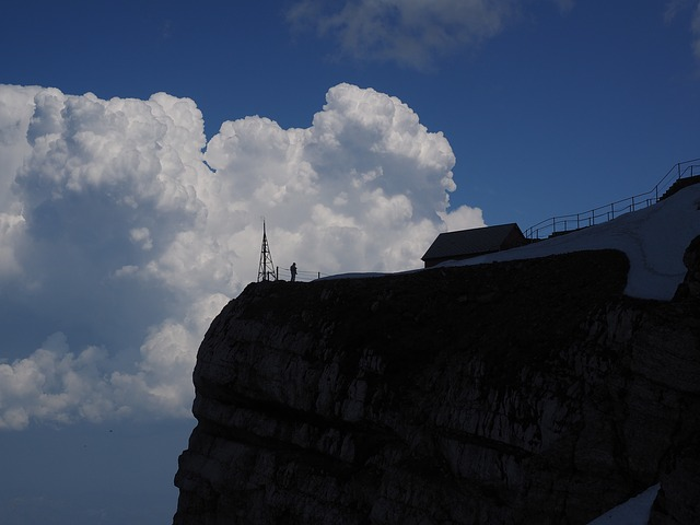 Säntis, Viewpoint, Clouds, Cumulus, Squall Line