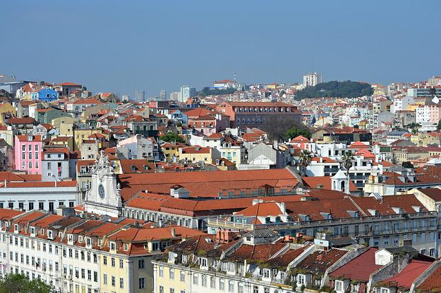 Portugal, Lisbon, City, Viewpoint, Decadent, Color