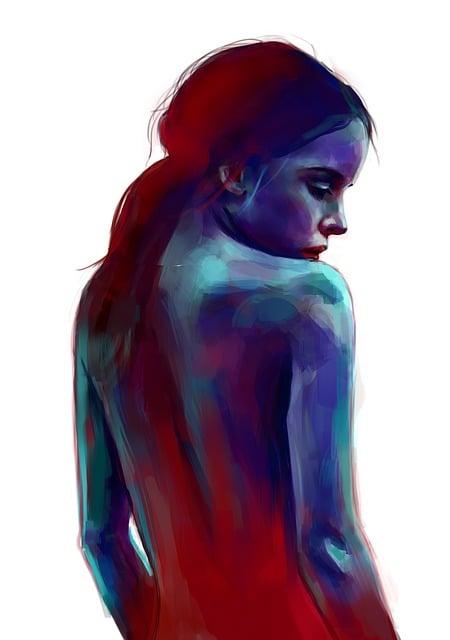 Art, Painting, Digital Painting, Emotion, Views, Girl