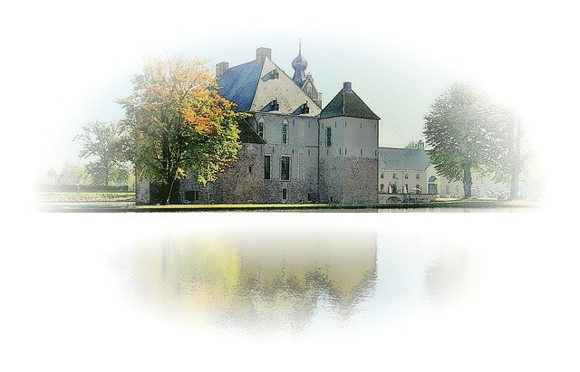 Castle, Autumn, Mirror, Atmosphere, Vote, Vignette
