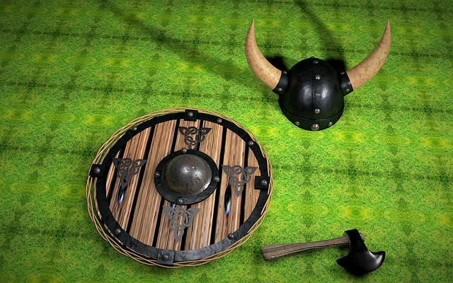 Viking, Shield, Ax, Helm, Middle Ages, Fight