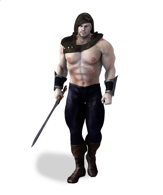 Viking, Warrior, Male, Muscular, Hooded, Barbarian