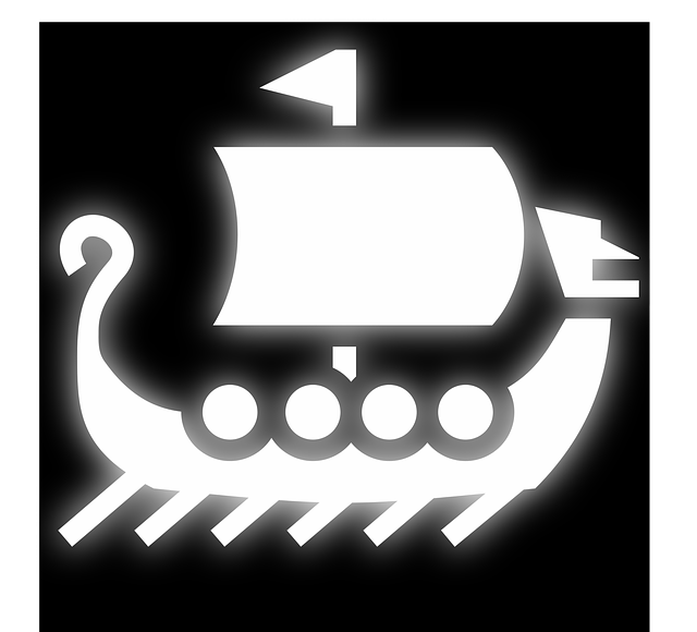 Boat, Icon, Pictogram, Vikings