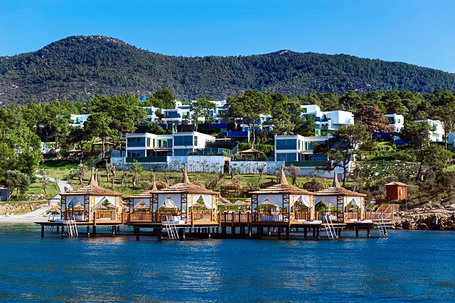 Beautiful, Villa, Bodrum, Houses, Resort, Wooden Hut