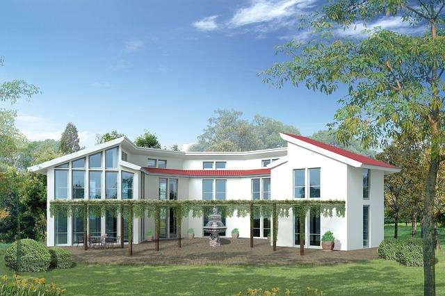 Single Family Home, Villa, Rendering, Visualization