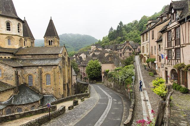 Conques, Medieval, Village, Aveyron, Abbey, France