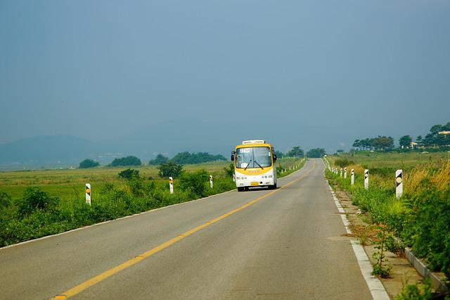 Road, Transport, Asphalt, Village Bus, Gil, Bus