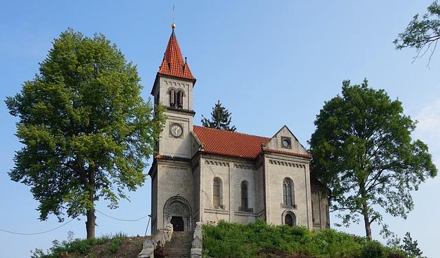 Village Church, Czechia, Church, Village, Countryside
