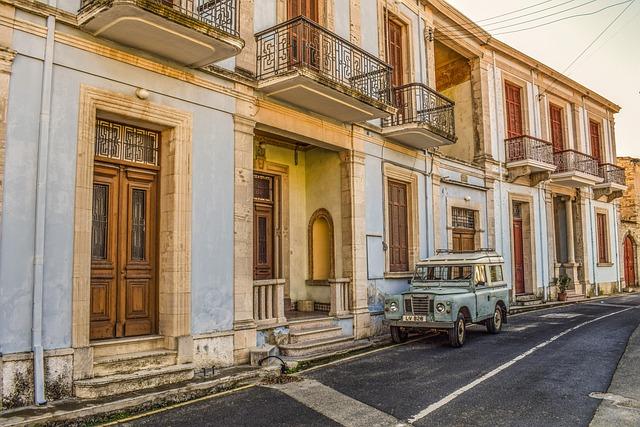 Cyprus, Kato Drys, Village, Architecture, Neoclassic