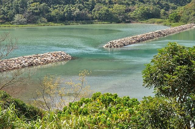River, Dam, Yung Shue, Village, Sai Kung, Hong Kong