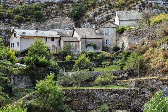 Village, House, Rock, Architecture, Pierre, Wall