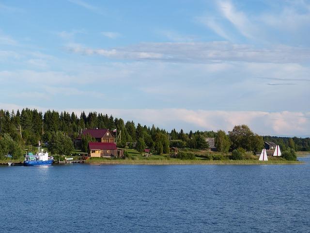 Lake Ladoga, Russia, Landscape, Nature, Village, Homes