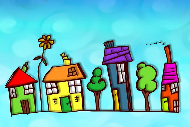 Colourful, Colorful, Street, Village, Houses, Homes