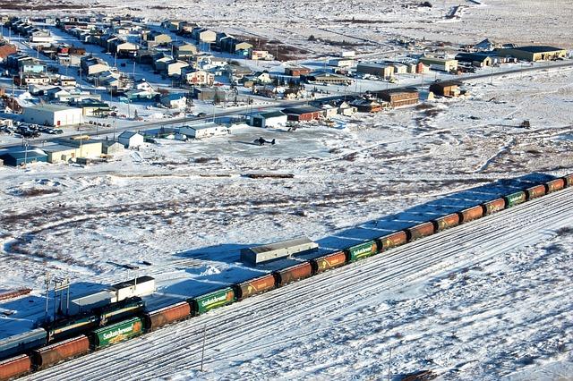 Churchill, Manitoba, Canada, Train, Village, Houses