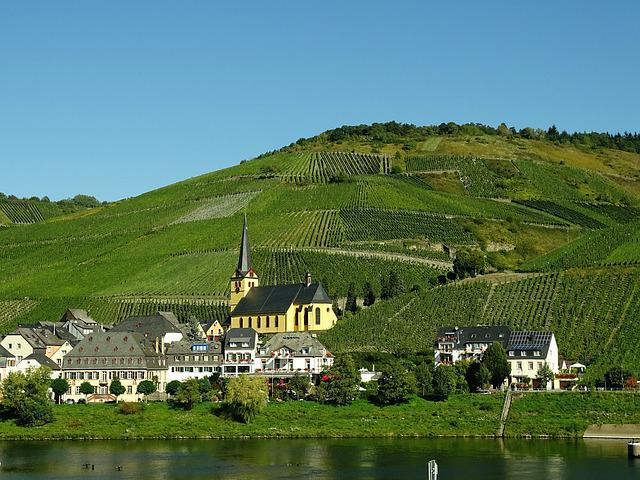 Vineyards, Mosel, Winegrowing, Village, Germany, Truss