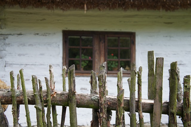 Wooden Fence, Village, Window, The Countryside
