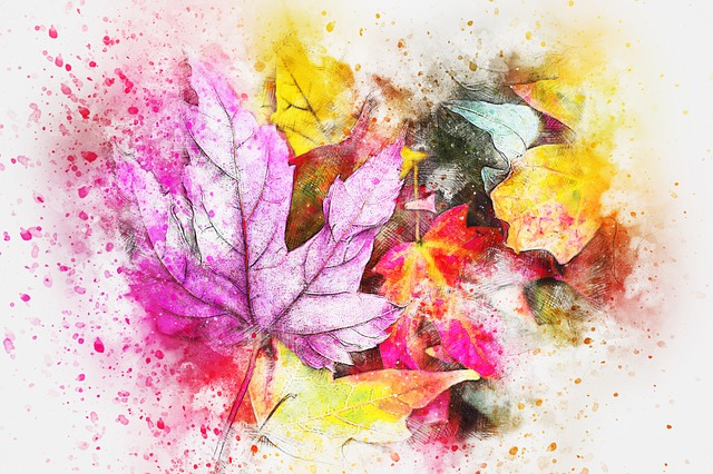 Leaves, Nature, Art, Abstract, Watercolor, Vintage